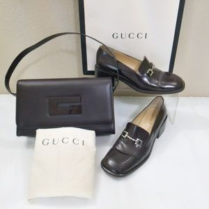 Gucci Loafer Shoes Shoulder Bag Bundle